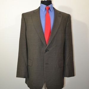 Jos A Bank 44L Sport Coat Blazer Suit Jacket Brown